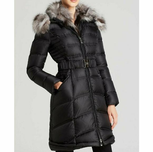 05cf09f83bd Dawn Levy Cat Gray Down Fur Puffer Hood Coat NWT